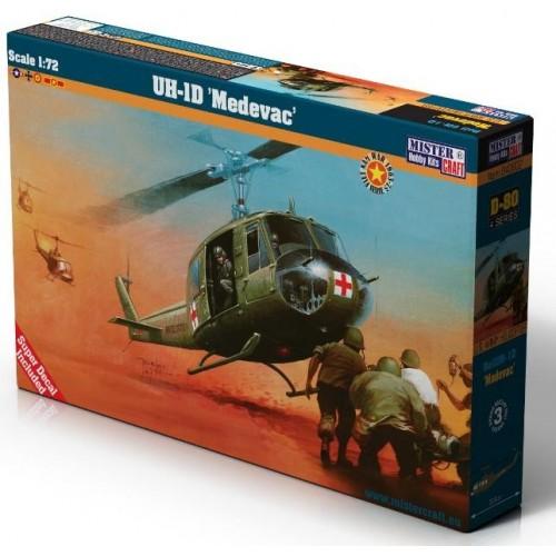 BELL UH-1 D HUEY MEDEVAC -Escala 1/72 - Mister Hobby Craft 040802 D-80