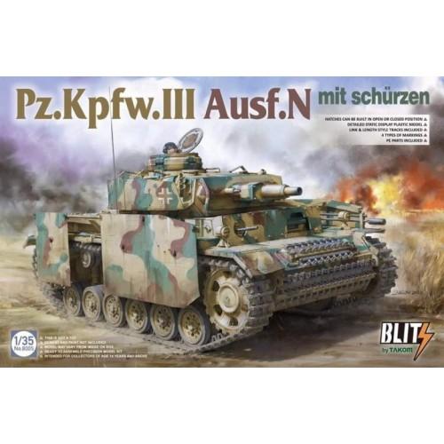 CARRO DE COMBATE Sd. Kfz. 141 Ausf. N PANZER III -Escala 1/35- Takom 8005