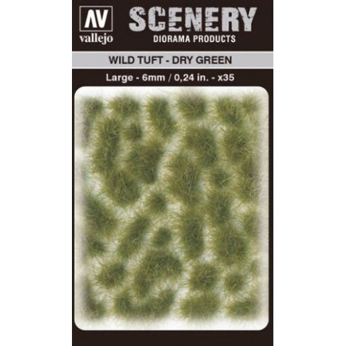 WILD TURF - DRY GREEN (L: 6 mm x 35 unidades) - Acrylicos Vallejo SC415