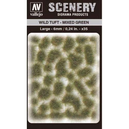 WILD TURF - MIXED GREEN (L: 6 mm x 35 unidades) - Acrylicos Vallejo SC416