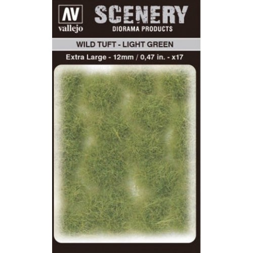 WILD TURF - LIGHT GREEN (L: 12 mm x 35 unidades) - Acrylicos Vallejo SC426