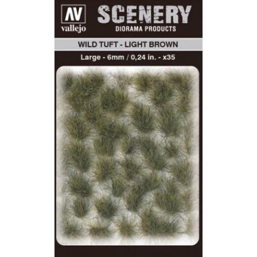 WILD TURF - LIGHT BROWN (L: 6 mm x 35 unidades) - Acrylicos Vallejo SC418