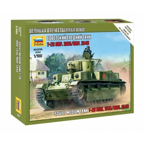 CARRO DE COMBATE T-28 -Escala 1/100 - Zvezda 6247