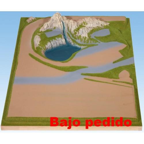 TOPORAMA: EXTENSION LATERAL IZQUIERDA (690 x 1.000 x 160 mm) Escala N