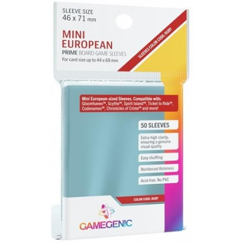 FUNDAS CARTAS PRIME MINI EUROPEAS 46x71mm (50 UNIDS)