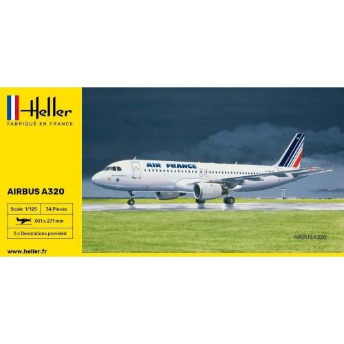 AIRBUS A320 (Pegamento & pinturas) -Escala 1/125- Heller 56448