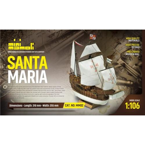 NAO SANTA MARIA -Escala 1/106- Mamoli MM02