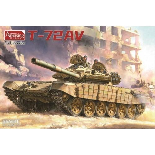 CARRO DE COMBATE T-72 AV (Interiores) -Escala 1/35- AMUSING HOBBY 35A041
