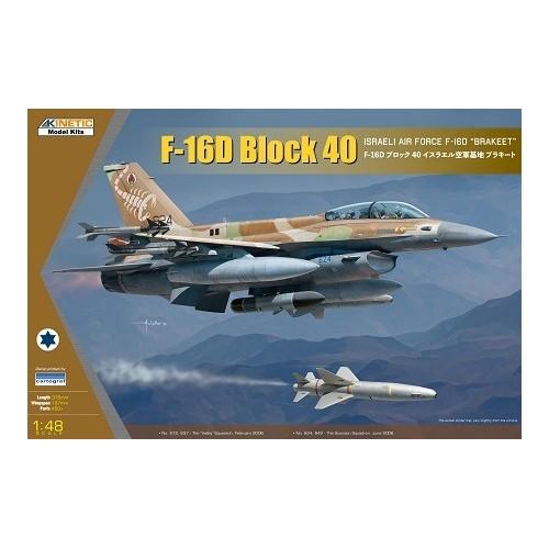 GENERAL DYNAMICS F-16 D Block 40 BARKEET / FIGHTING FALCON -Escala 1/48- Kinetic K48130