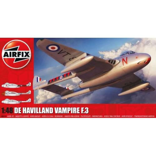 de HAVILLAND VAMPIRE F.3 -Escala 1/48- Airfix A06107