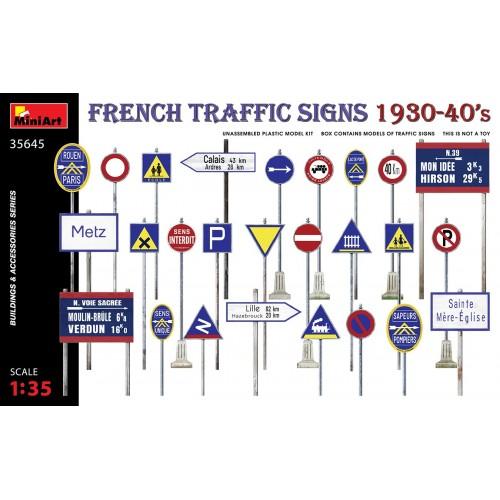 SEÑALES DE TRAFICO FRANCESAS (Años 40) -Escala 1/35- MiniArt Model 35645