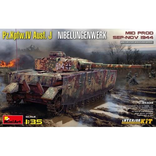CARRO DE COMBATE Sd.Kfz. 161 Ausf. J Nibelungenwerk MID PROD. SEP-NOV 1944 (Interior) -Escala 1/35- MiniArt 35339
