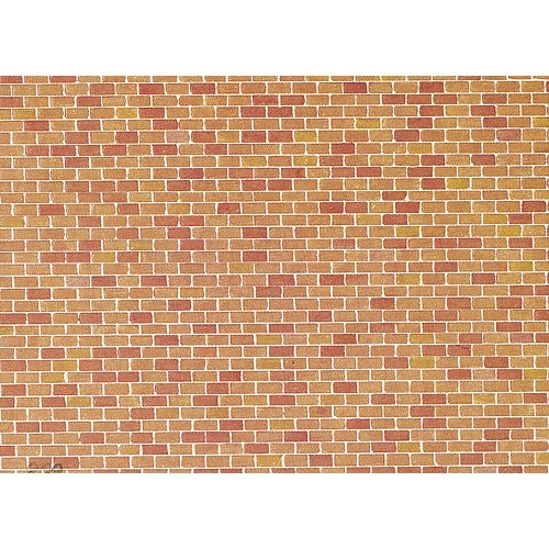 CARTULINA LADRILLO N (250 x 125 mm) - Faller 170608
