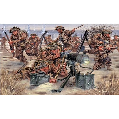 """INFANTERIA BRITANICA """"Segunda Guerra Mundial -1/72- (42 figuras) Italeri 6056"""