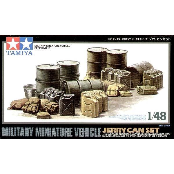 SET JERRY CAN & BIDONES -Escala 1/48- Tamiya 32510