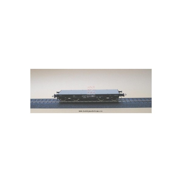 VAGON PLATAFORMA Rlmmp 31 80 389 2 822-8  DB Epoca IV -Escala h0 - 1/87- Roco 46380