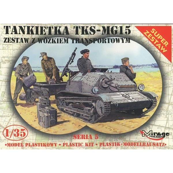 TANQUETA TKS-MG 15 Y TRAILER - ESCALA 1/35 - MIRAGE 35515