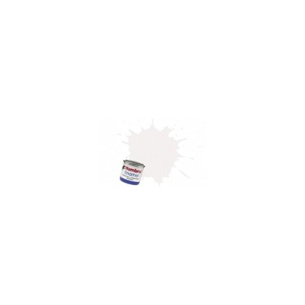 PINTURA ESMALTE BLANCO SATINADO (14 ml) - Humbrol 130 / AA1434