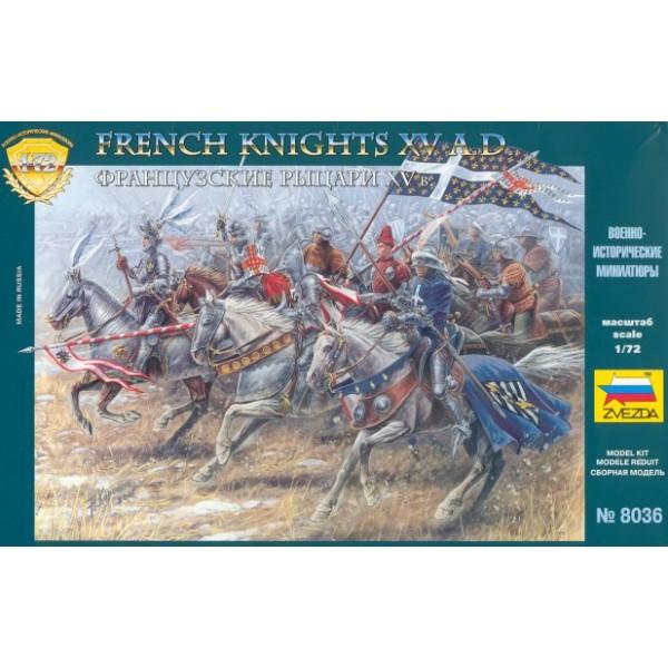 CABALLEROS FRANCESES (Siglo XV) -Escala 1/72- Zvezda 8036