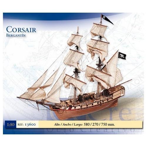 BERGANTIN PIRATA CORSAIR -1/80- Occre 13600