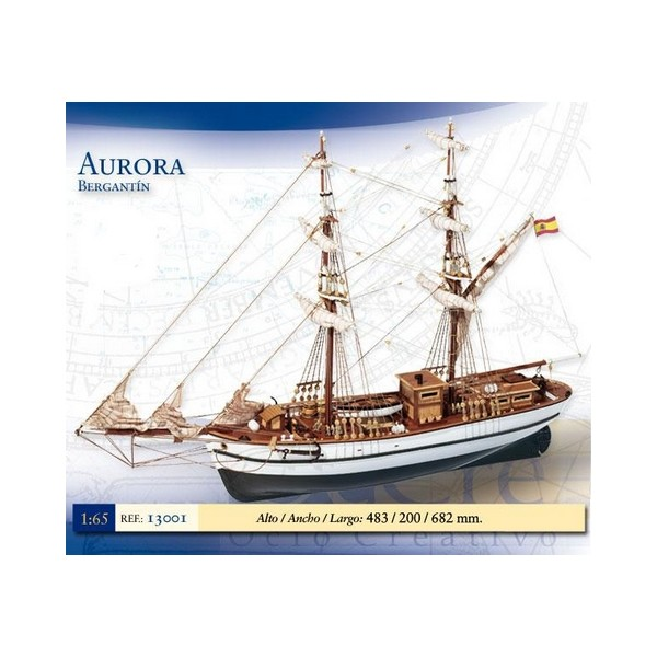BERGANTIN AURORA -1/65- Occre 13001
