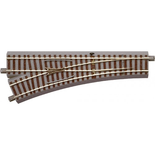 VIA GL DESVIO RECTO (L: 200,00 mm) IZQUIERDA (R: 502,70 mm) 22,5º - Escala hO / 1/87- Roco 61140