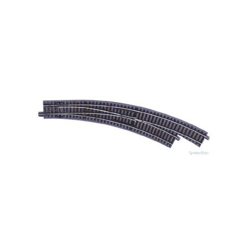 VIA GL DESVIO CURVA DERECHA R3/R4 (R: 434,50 mm) 30º -Escala H0 - 1/87- Roco GeoLine 61155