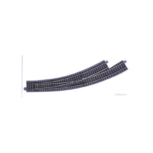 VIA GL DESVIO CURVA IZQUIERDA R3/R4 (R: 434,50 mm) 30º -Escala H0 - 1/87- Roco GeoLine 61154