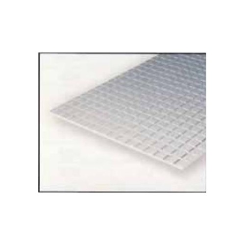 HOJA PLASTICO CUADRADO AZULEJO (3,2 x 3,2 mm) 1 mm (300 x 150 mm)