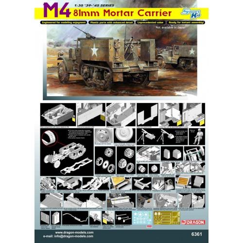 SEMIORUGA M-4 (MORTERO 80 mm) -Escala 1/35- Dragon 6361