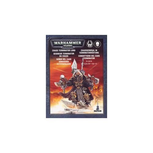 CHAOS SPACE MARINES CHAOS LORD IN TERMINATOR ARMOUR - GAMES WORKSHOP 43-12