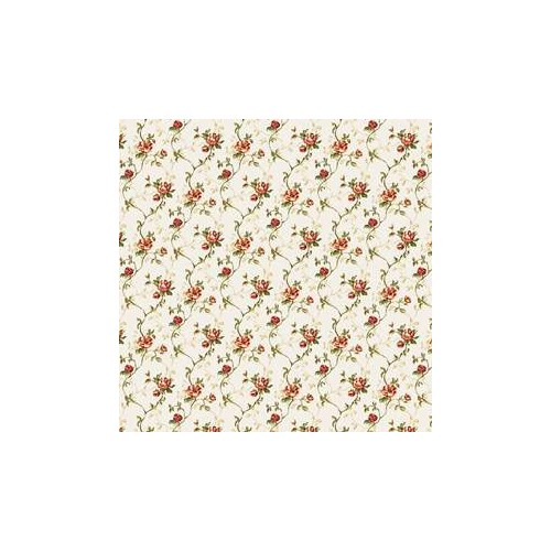PAPEL PARED FLORES ROJAS (44 x 30 cm)