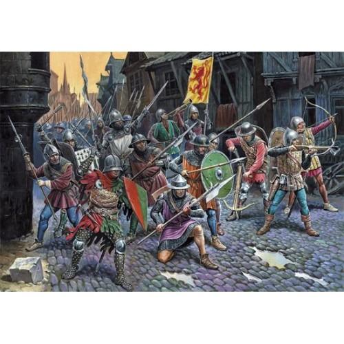 GUERREROS Y CABALEROS FRANCESA (Guerra de los 100 años) -Escala 1/72- Zvezda 8053