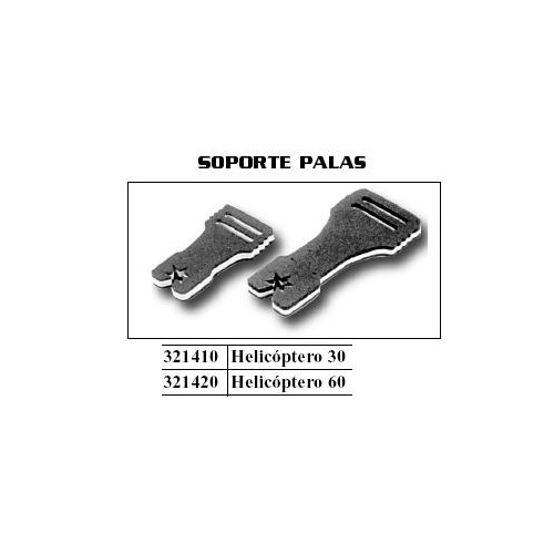 SOPORTE PALAS HELICOPTERO TIPO 30