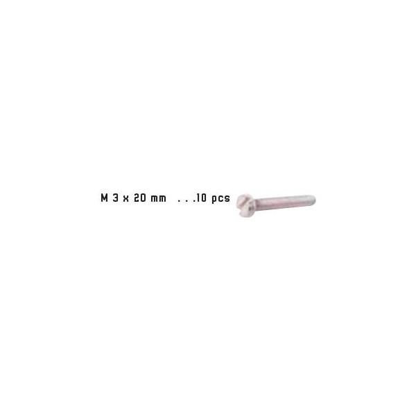 TORNILLO ACERO (M3 x 20 mm) 10 unidades