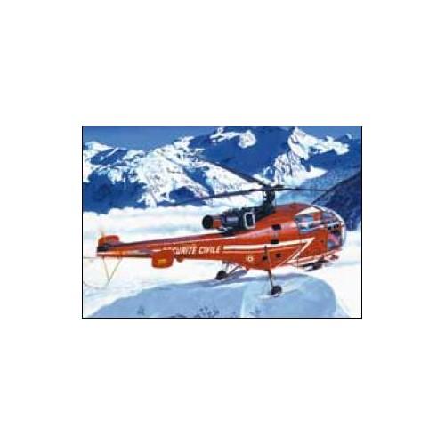 Sud AVIATION SA-316 ALOUETTE III Securite Civile 1/72 - Heller 80289