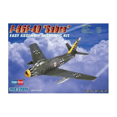 NORTH AMERICAN F-86 F-40 SABRE ESCALA 1/72 HOBBYBOSS 80259