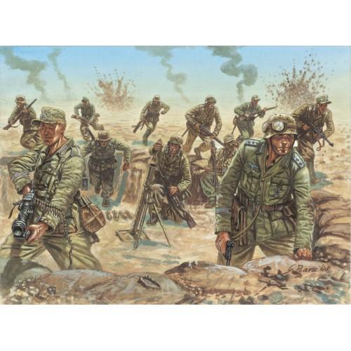 """INFANTERIA ALEMANA """"Afrika Korps"""" -1/72- (48 figuras) Italeri 6099"""