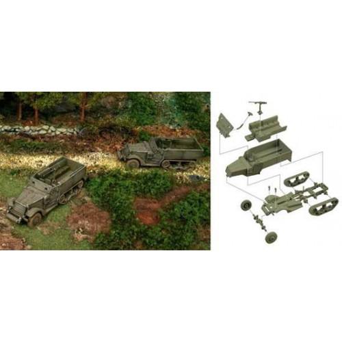 TRANSPORTE DE TROPAS M-3 HALF TRACK  (2 unidades) MONTAJE RAPIDO ESCALA 1/72 - Italeri 7509