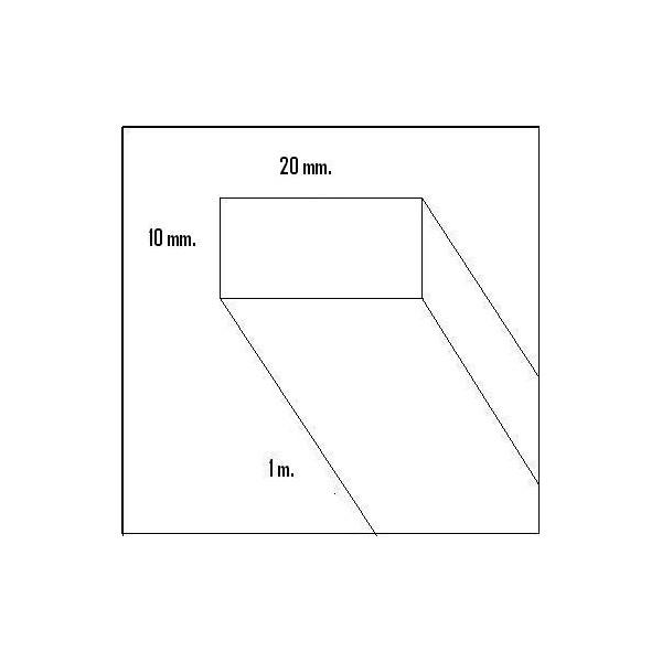 LISTON BALSA (10 x 20 x 1.000 mm)