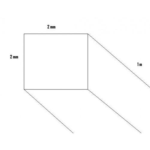 LISTON BALSA (2 x 2 x 1.000 mm)