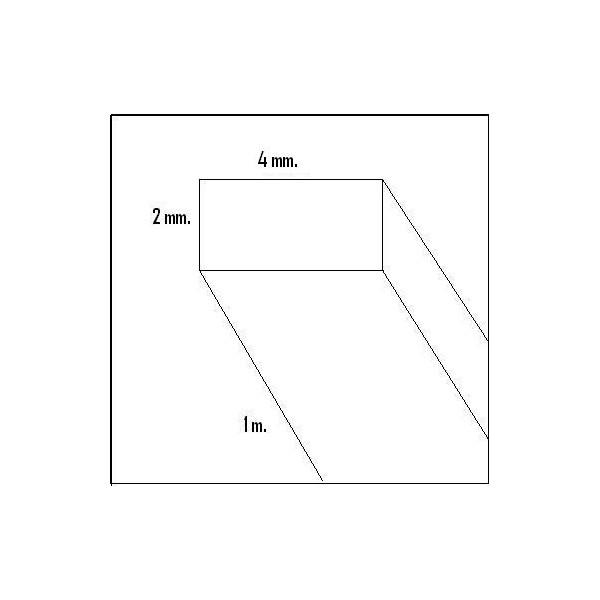 LISTON BALSA (2 x 4 x 1.000 mm)