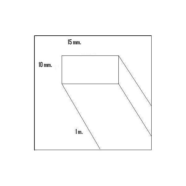 LISTON HAYA (10 x 15 x 1.000 mm)