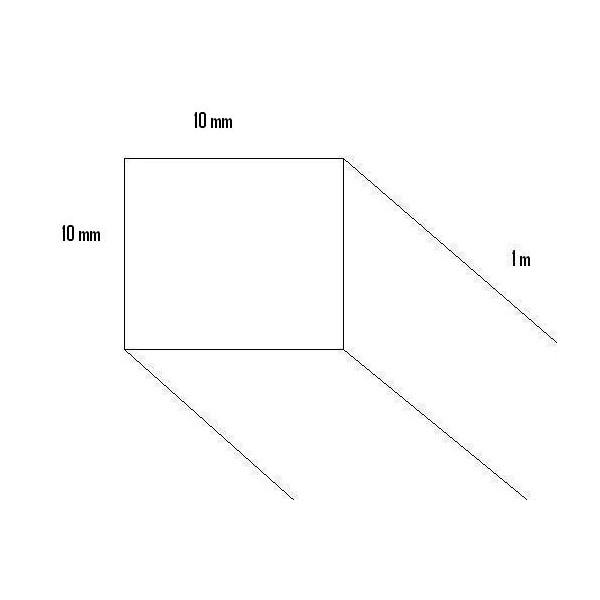 LISTON HAYA (10 x 10 x 1.000mm)