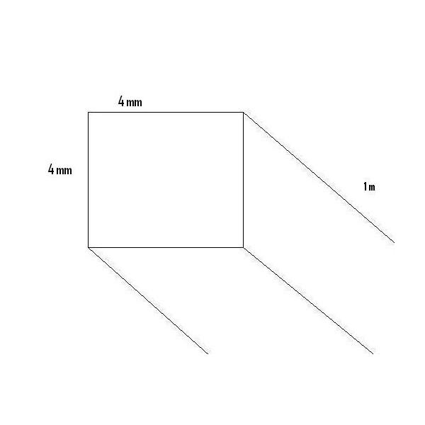 LISTON BALSA (4  x 4 x 1.000 mm)