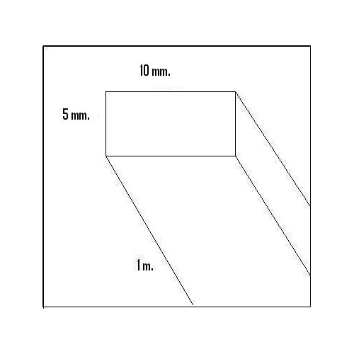 LISTON BALSA (5 x 10 x 1.000 mm)