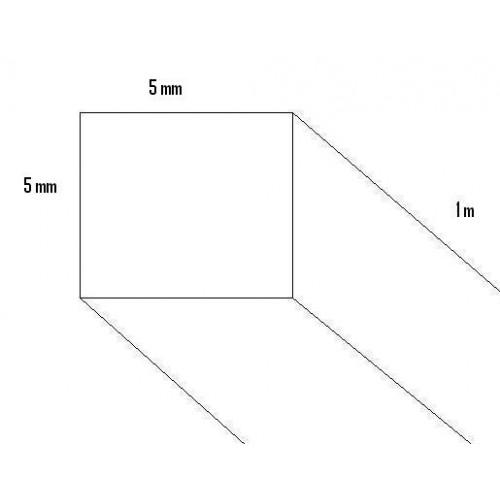 LISTON BALSA (5 x 5 x 1000 mm)
