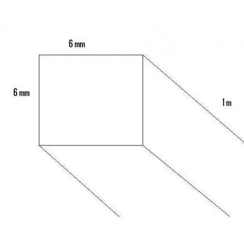 LISTON PINO (6 x 6 x 1.000mm)