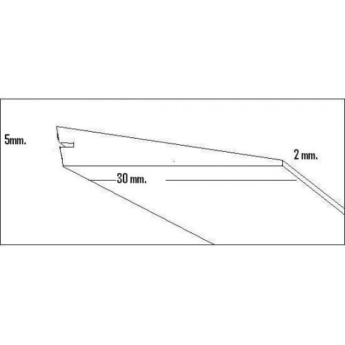BORDE SALIDA BALSA (30 x 5 x 2 x 1.000 mm)