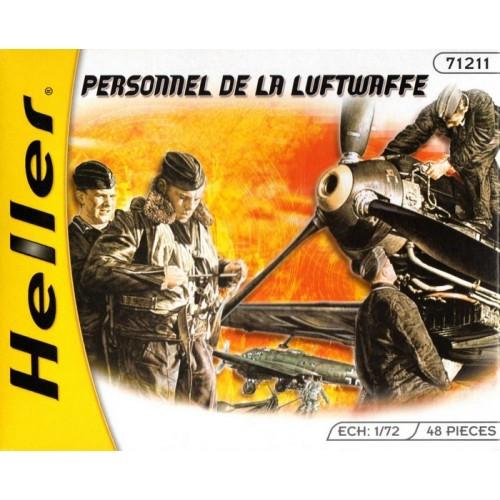 PERSONAL DE TIERRA DE LA LUFTWAFFE (48 piezas) -Escala 1/72- Heller 49655